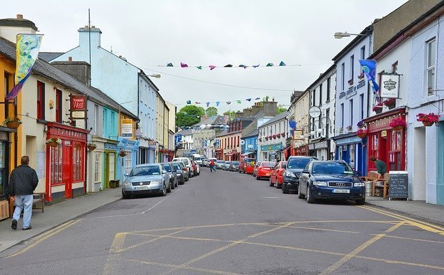 Street with cafes in Cork