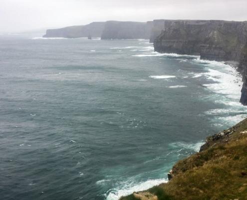 Irish coastline winter