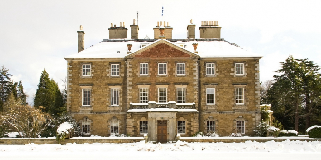 Gilmerton House in the snow