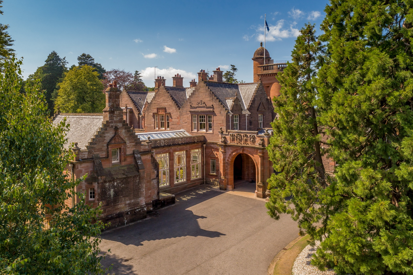 Auchterarder House from the air