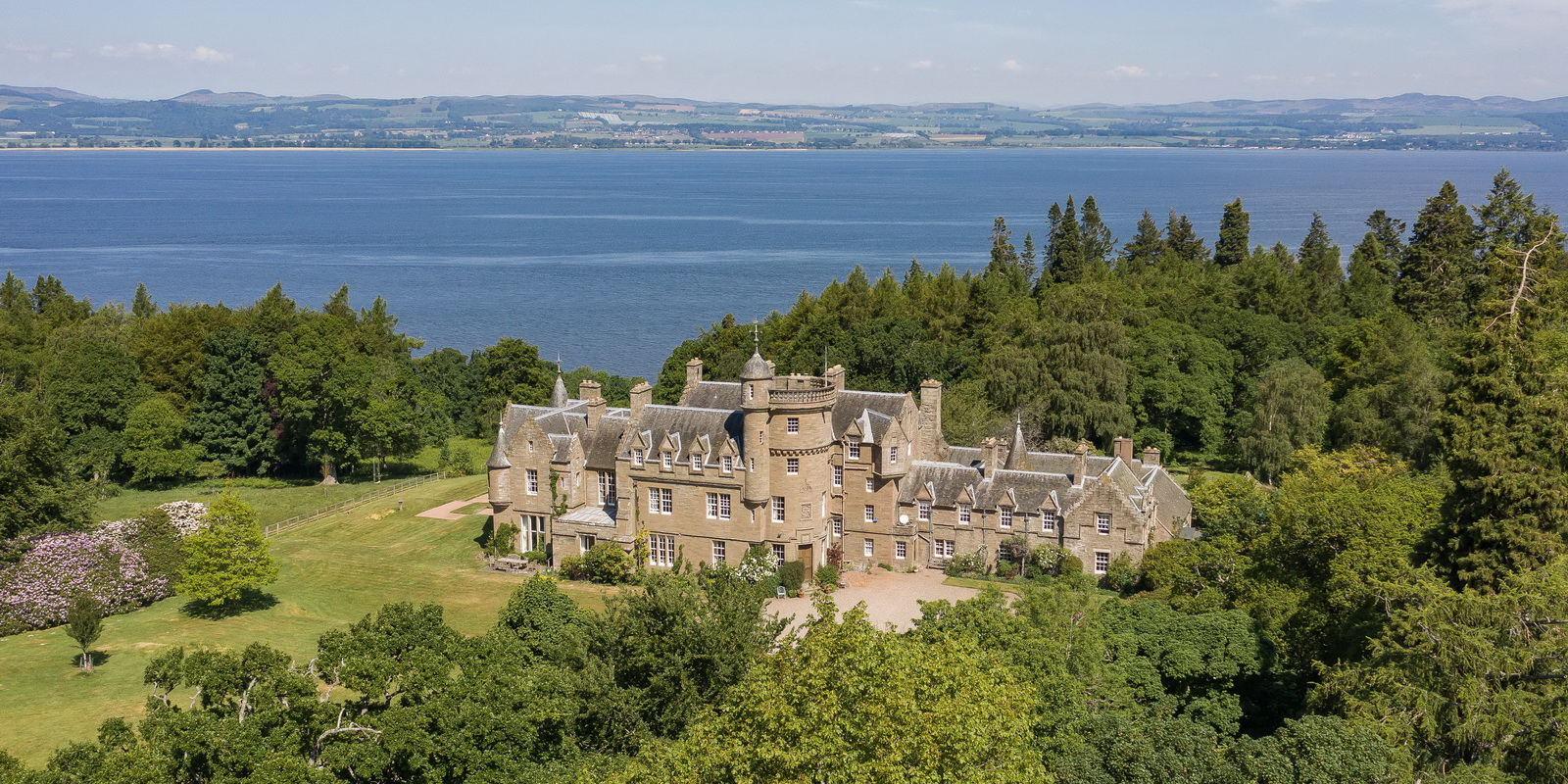 Birkhill Castle from the air